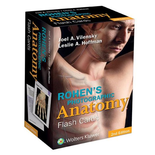Rohen's Photographic Anatomy Flash Cards 2ed BY J. Vilensky