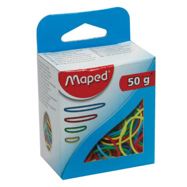 Maped, Rubber Bands, Coloured, 50gram