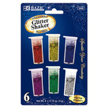 BAZIC, Glitter Shaker, 6 Primary Color, 3g