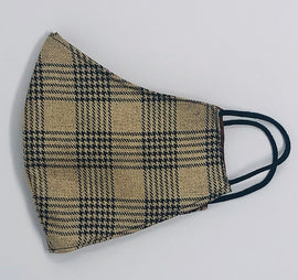 Adult Face Mask, Fabric, Contoured, BURBERRI PLAID