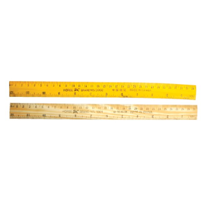 Horse, Ruler, Wooden, Brown, 12inch