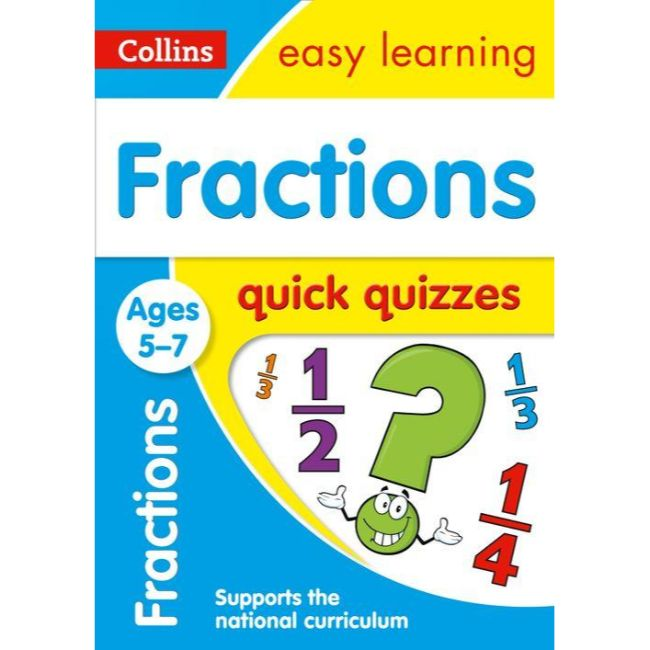 Collins Easy Learning Quick Quizzes, Fractions Ages 5-7, BY Collins UK