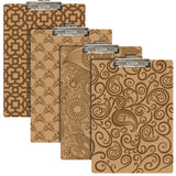 BAZIC, Clipboard with Low Profile Clip, Henna Pattern Hardboard, Standard Size