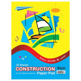"BAZIC, Construction Paper Pad, 9"" x 12"", 32 Sheets"
