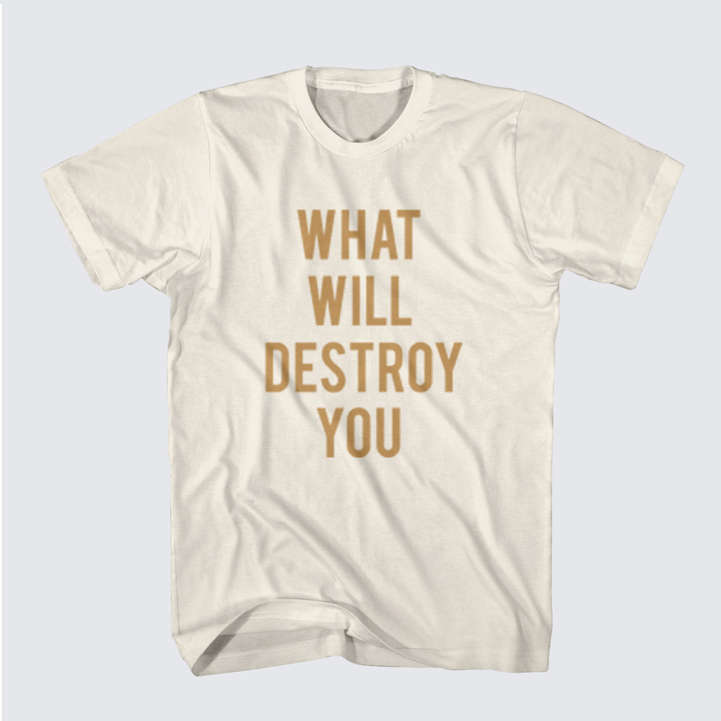 'What Will Destroy You' White T-Shirt