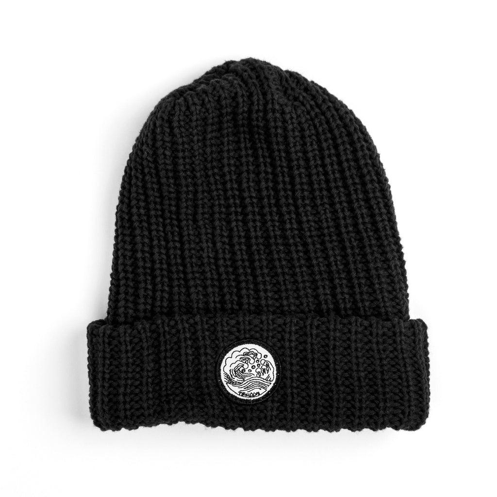 'Waves' Knit Cap | Black