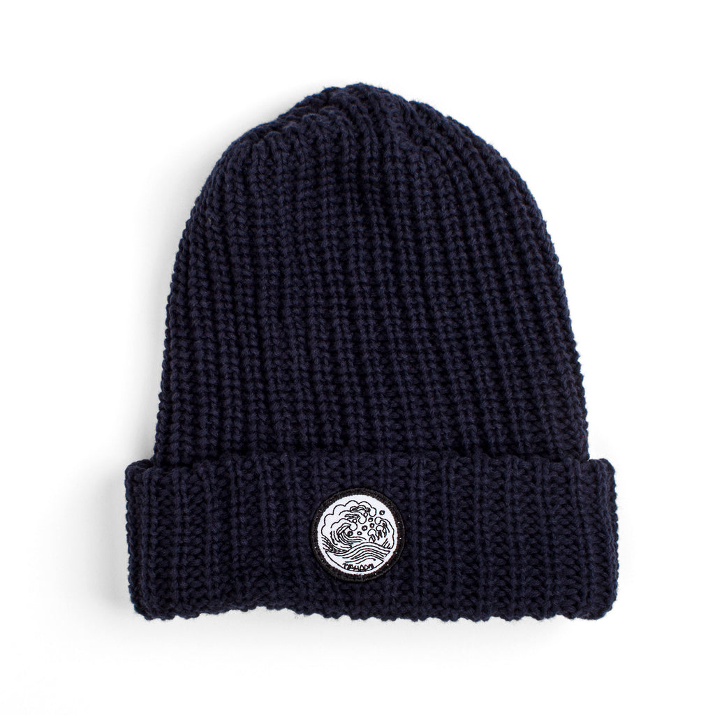 'Waves' Knit Cap | Navy