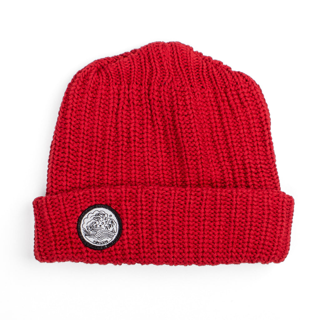 'Waves' Knit Cap | Red