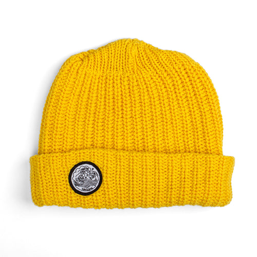 'Waves' Knit Cap | Yellow