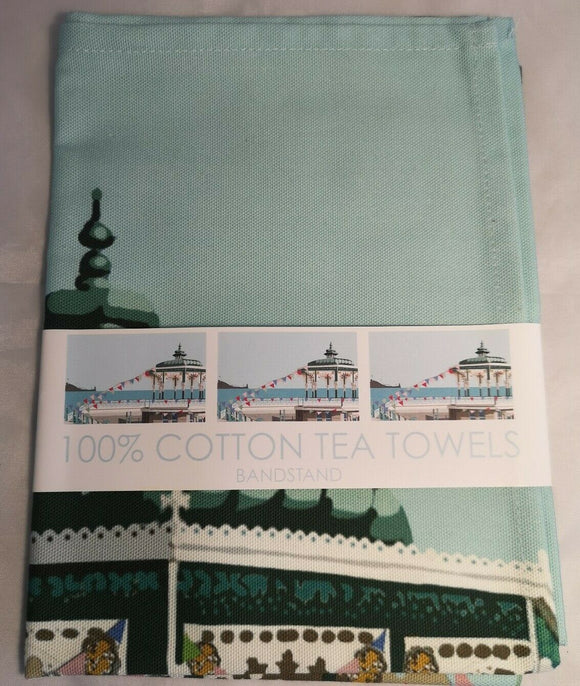 Brighton Hove Bandstand Design Cotton Tea Towel, Martlets, Betty Boyns.