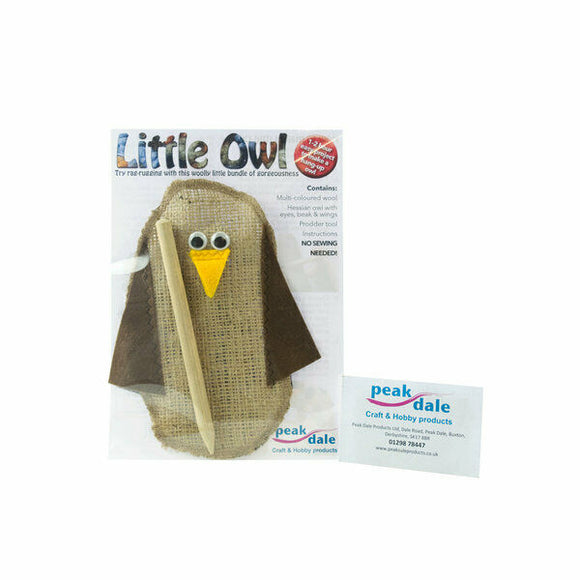 Wool Owl Rug Ragging Kit Multicoloured No Sewing