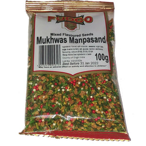 Fudco MUKHWAS MANPASAND MIXED FLAVOURED SEEDS PAN MOUTH FRESH 100g