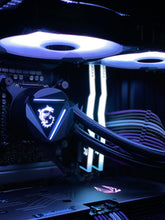 "Load image into Gallery viewer, Themed Build: ""Neon Shower"" - AMD Ryzen 9 3900X w/GeForce RTX 3080"