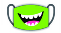 Graphic Mask - Lime Green Smile - Beyond Masks