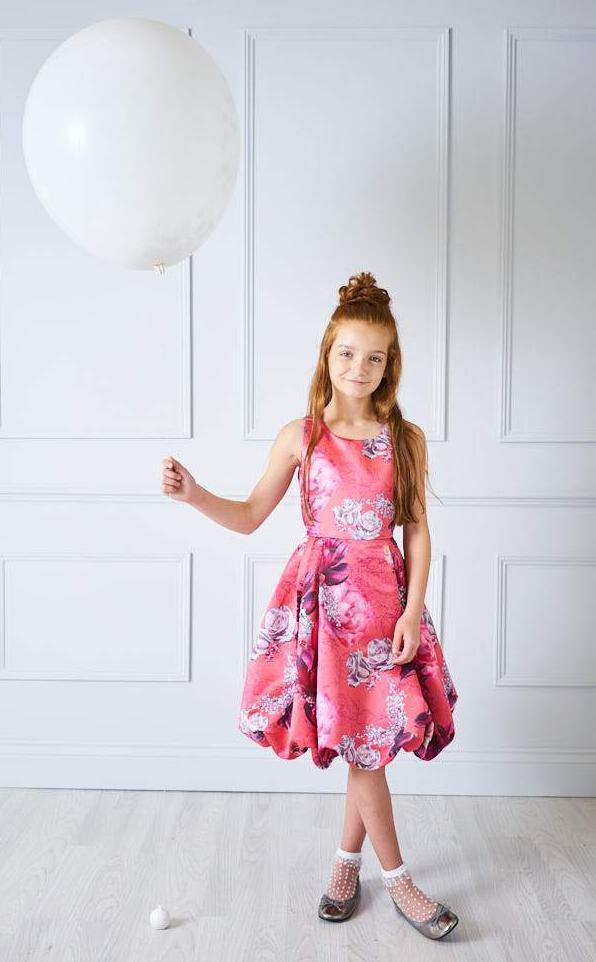 Marnie Floral Puff Ball Dress