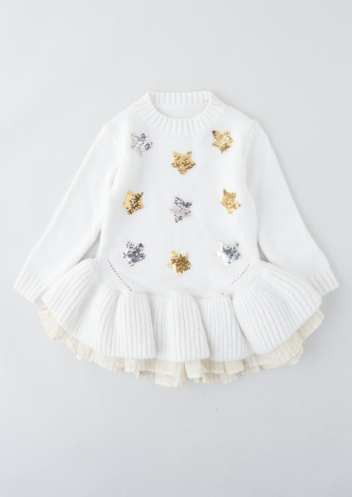 Sofia Star Sequin Peplum Jumper