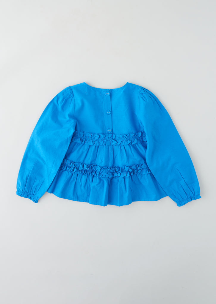 Maisie Cobalt Tiered Smock Top