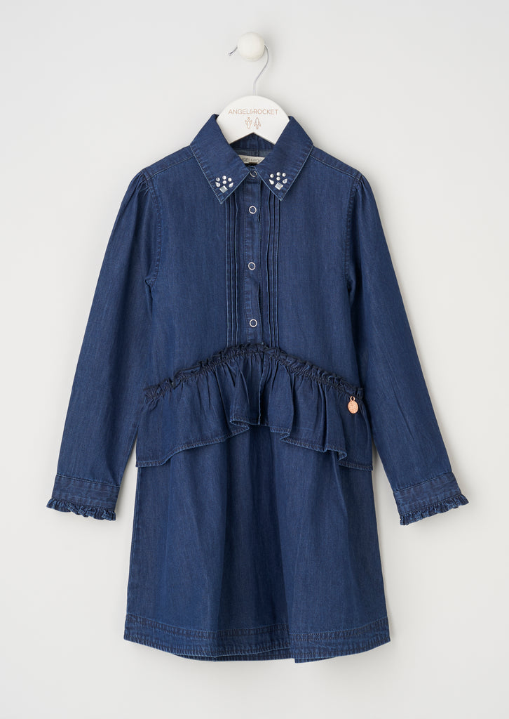 Harper Denim Peplum Shirt Dress