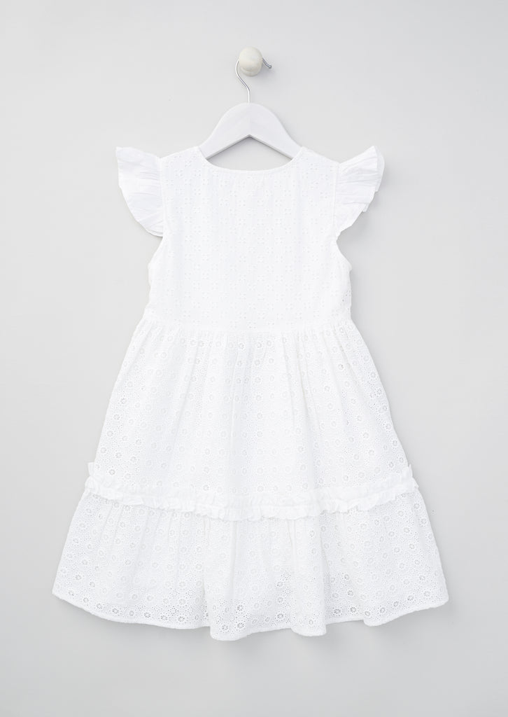 Zara Broderie Tiered Dress