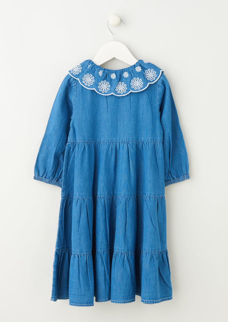 Erin Tier Dress With Collars