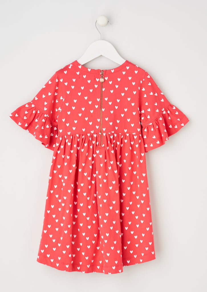 Betsy Red Jersey Printed Dress
