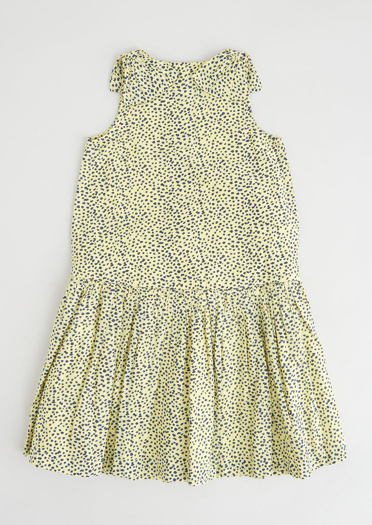 Bonnie Lemon Woven Tiered Dress