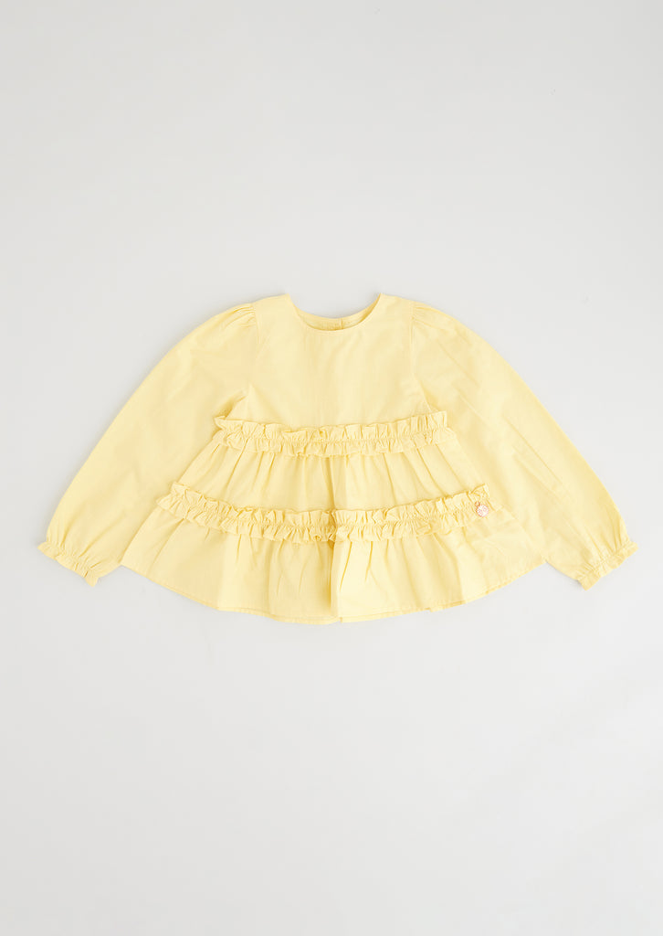 Maisie Lemon Ls Poplin Smock Top