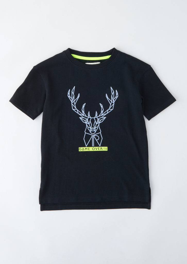 Zane Stag Graphic T Shirt