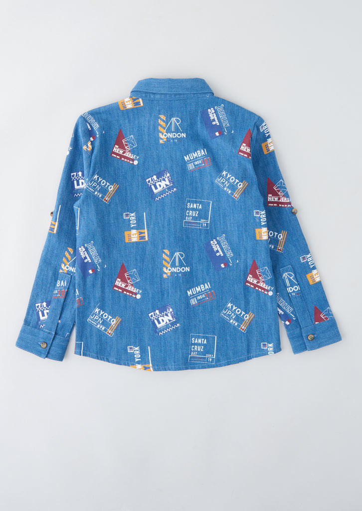 Nab Printed Chambray Shirt