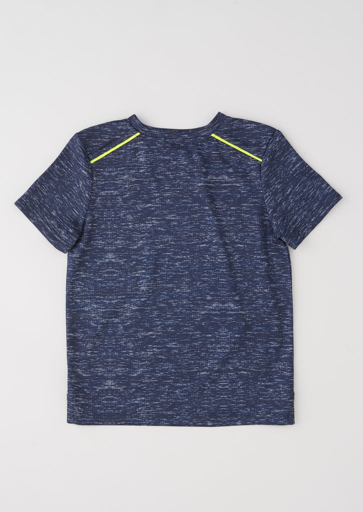 Sonny Navy Tipped Marl T Shirt