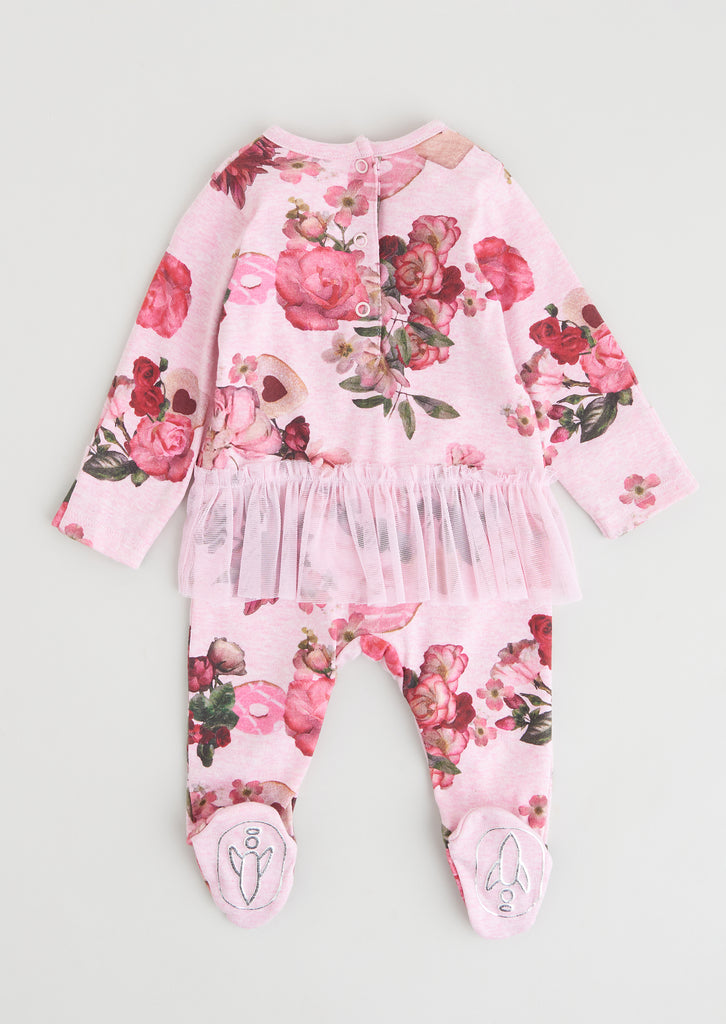 Amie Floral All in One With Tutu & Headband