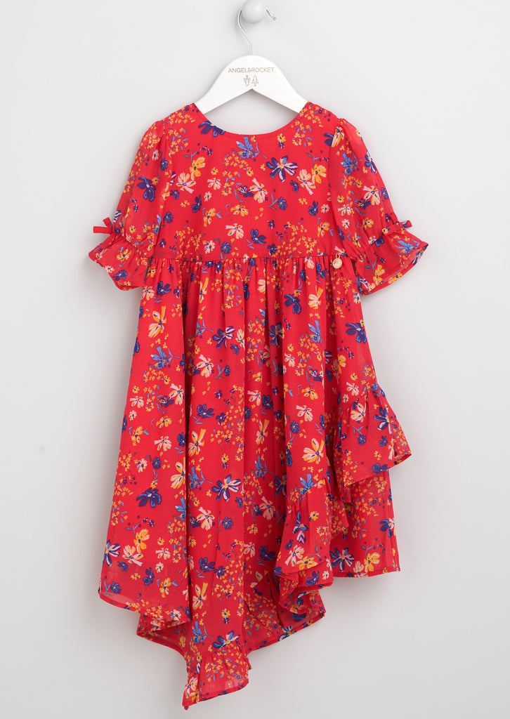 Otty Floral Aysemetric Dress