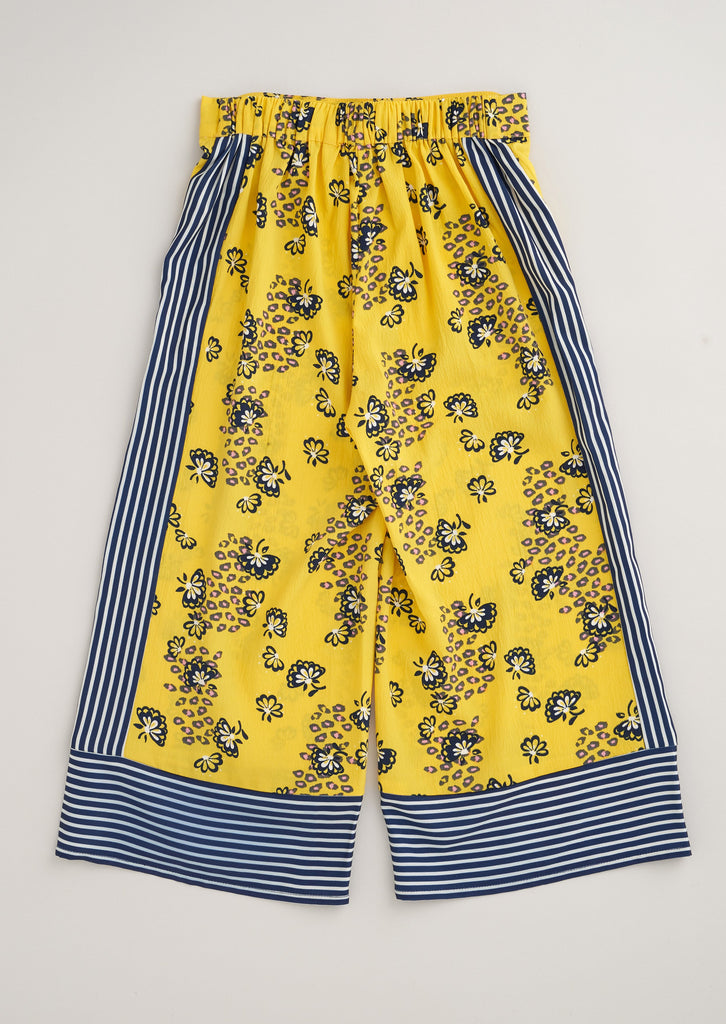Patty Floral Culottes - Yellow
