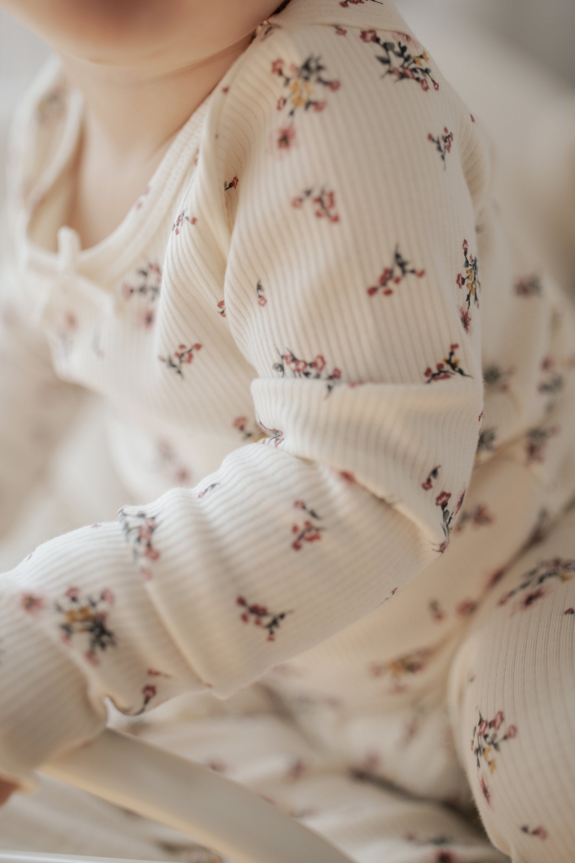 Organic Cotton Winter Pyjama Set - Pixie Floral
