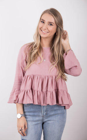 Sadie Knit Top - Rose smoke