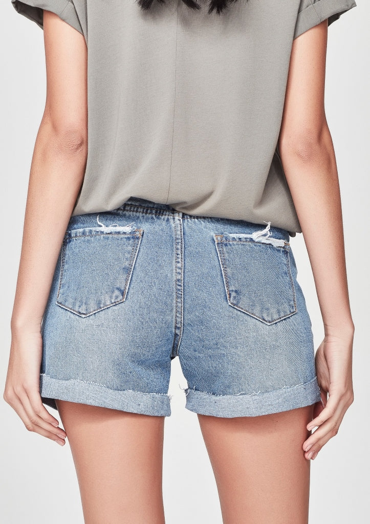 JUNKFOOD -DEMI SHORTS -BLUE
