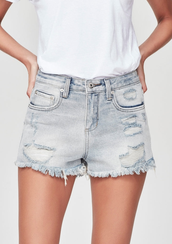 JUNKFOOD -EVIE SHORTS -BLUE