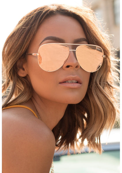 Quay X Desi Sunglasses High Key Gold Pagan Marie Boutique