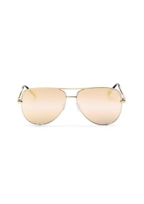 QUAY SUNGLASSES - HIGH KEY GOLD