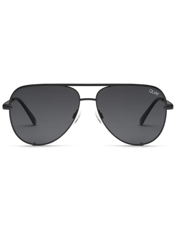 QUAY SUNGLASSES - HIGH KEY BLACK POLARIZED