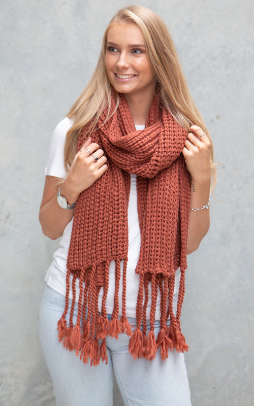 Wanaka Scarf - Copper Brown