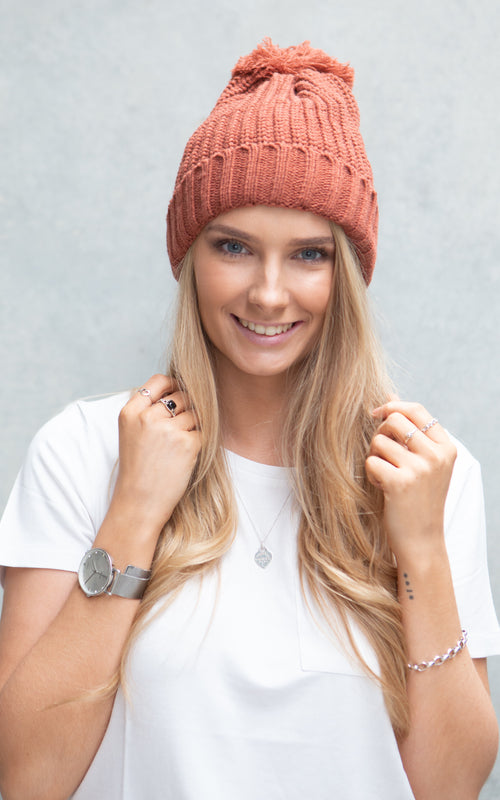 Holly Beanie - Copper Brown