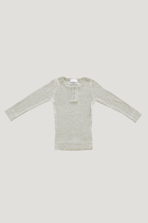 Original Cotton Modal Henley - Oatmeal Marle