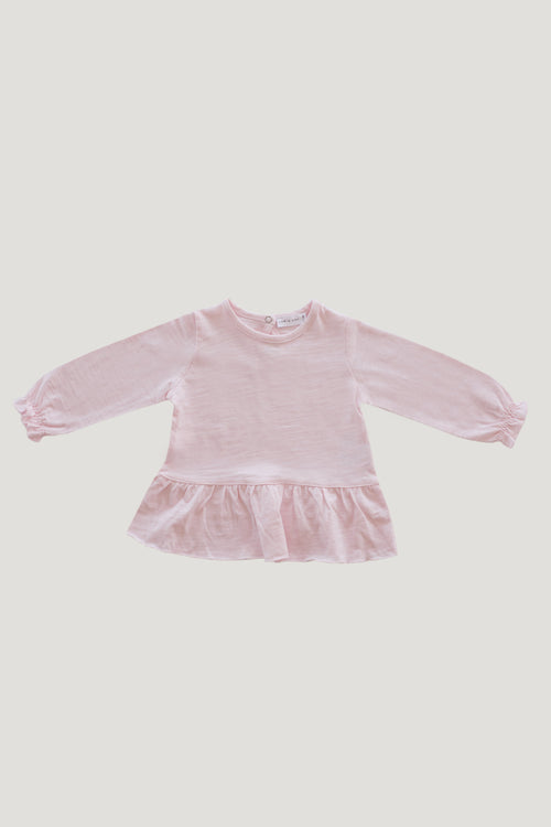 Slub Cotton Bailey Top - Sugar Plum
