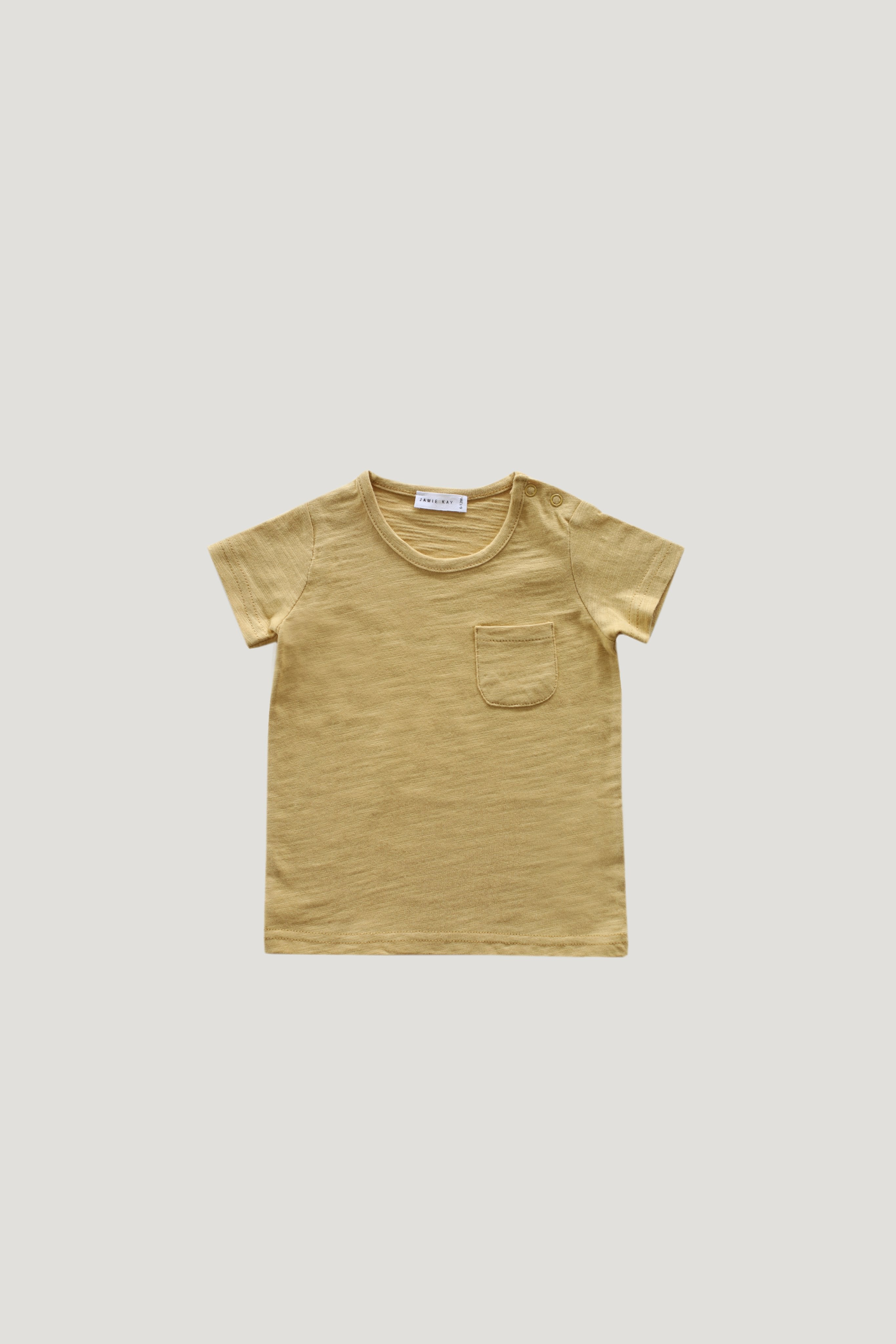 Slub Cotton Sam Tee - Barley