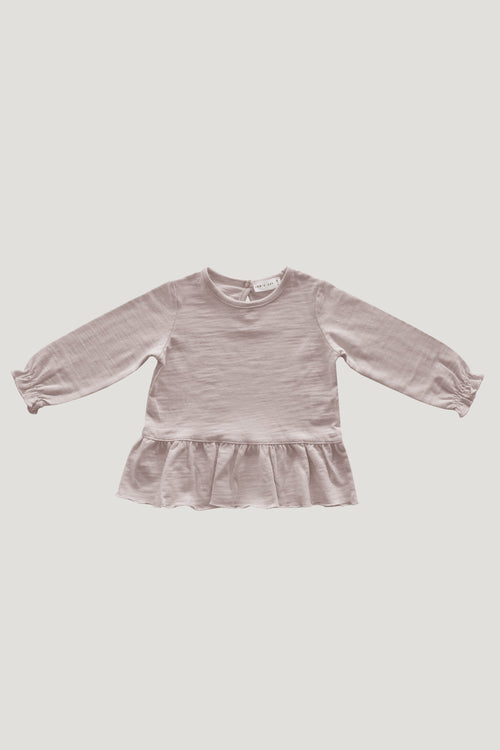 Slub Cotton Bailey Top - Candy Floss