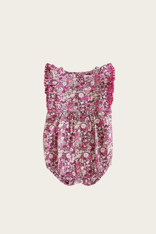 Organic Cotton Stella Playsuit - Garden Print