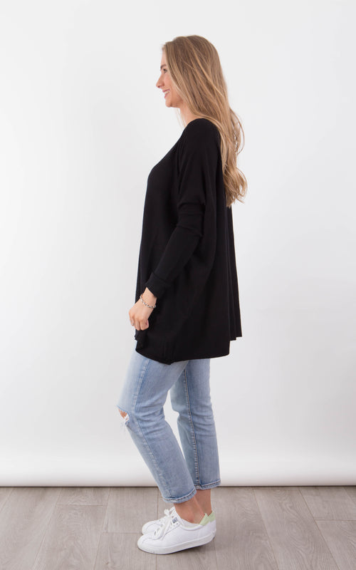 Melissa Knit top - Black