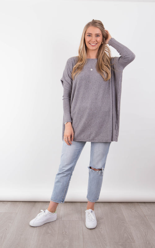 Melissa Knit top - Charcoal