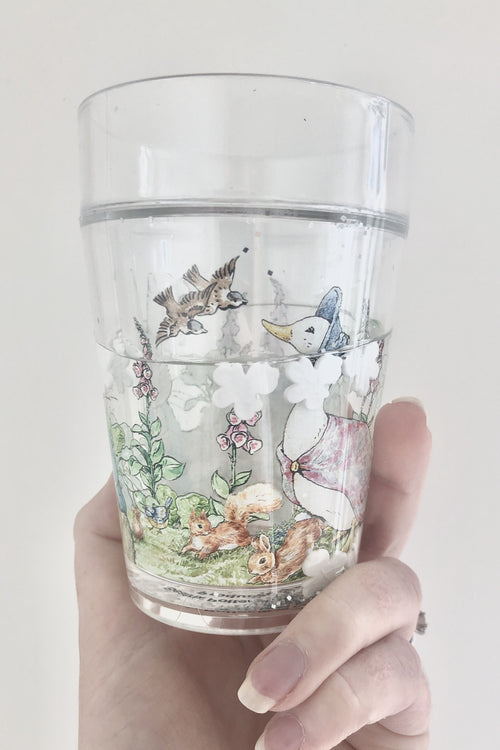 Peter Rabbit - Beatrix Potter - Glitter Tumbler